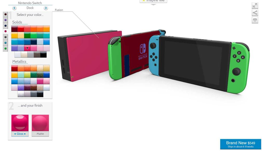 color de Nintendo Switch