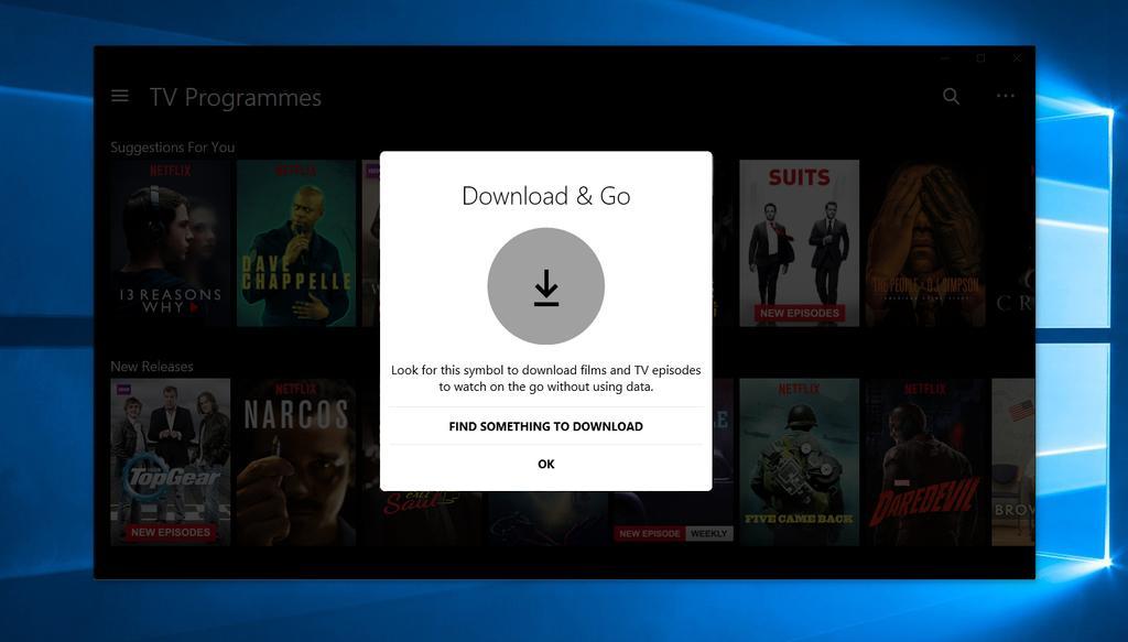 Descarga contenidos en Netflix en Windows 10