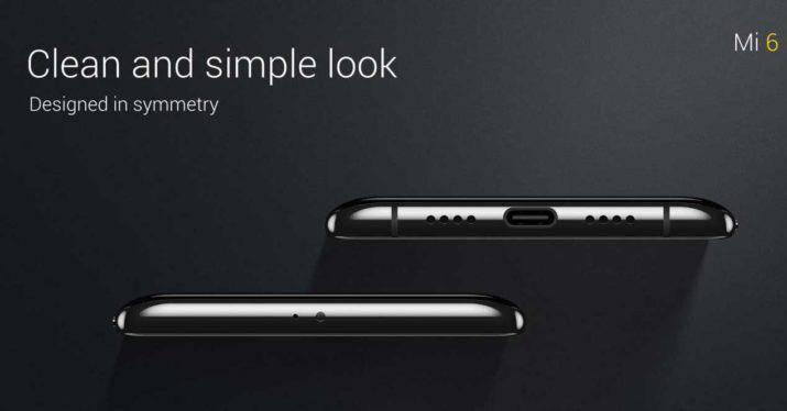 Aspecto inferior del Xiaomi Mi 6