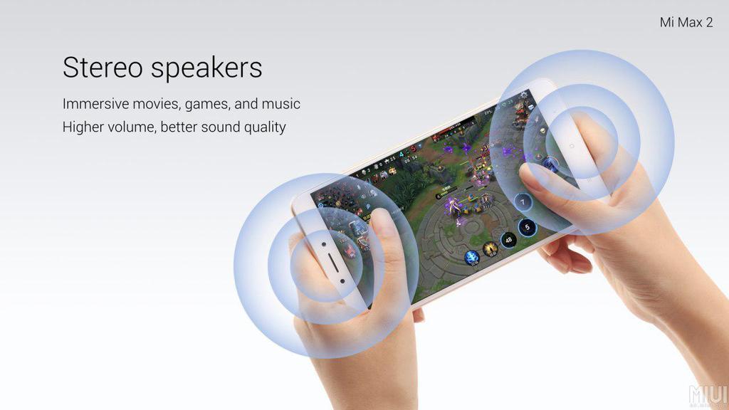 Altavoces estéreo el Xiaomi Mi Max 2