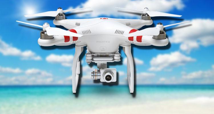 Dron de DJI con fondo de ubes