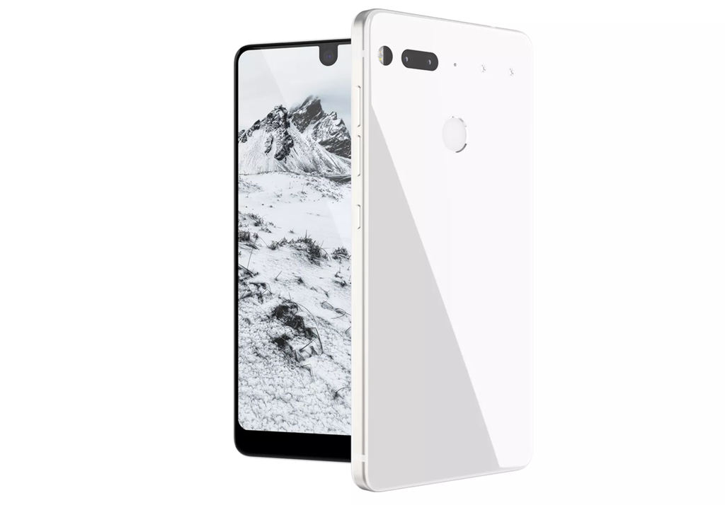 Essential Phone de color blanco