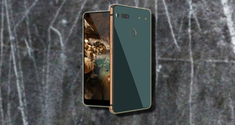 Essential Phone con fondogris