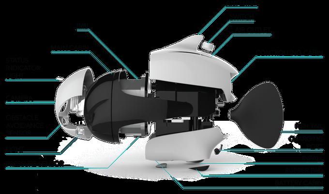 Estructura interna del dron Biki