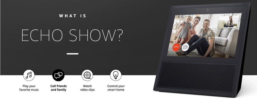 Funciones del altavoz Amazon Echo Show