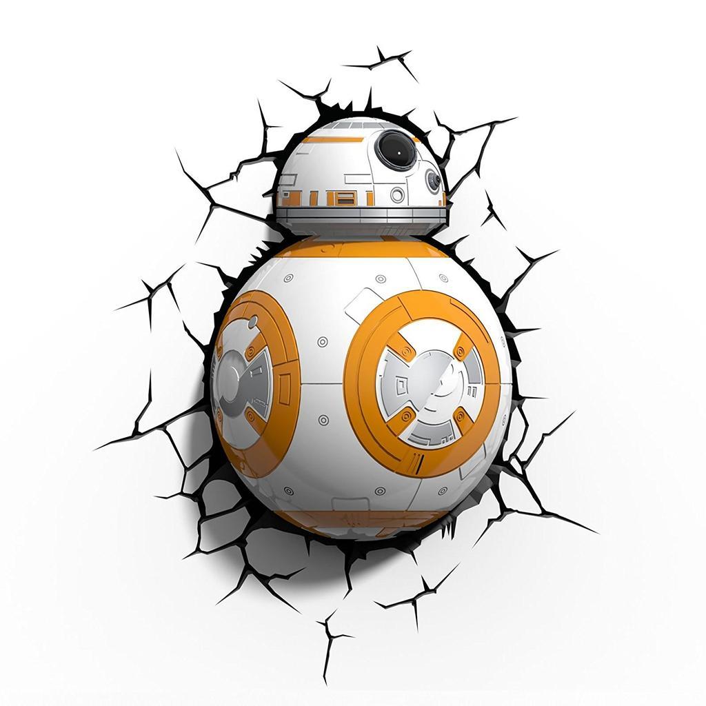Lámpara Galaxias BB-8 3D para el día internacional de Star Wars