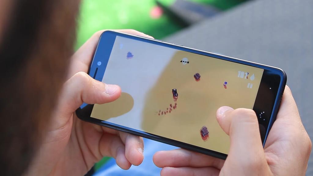 Ejecución de juego en el BQ Aquaris X