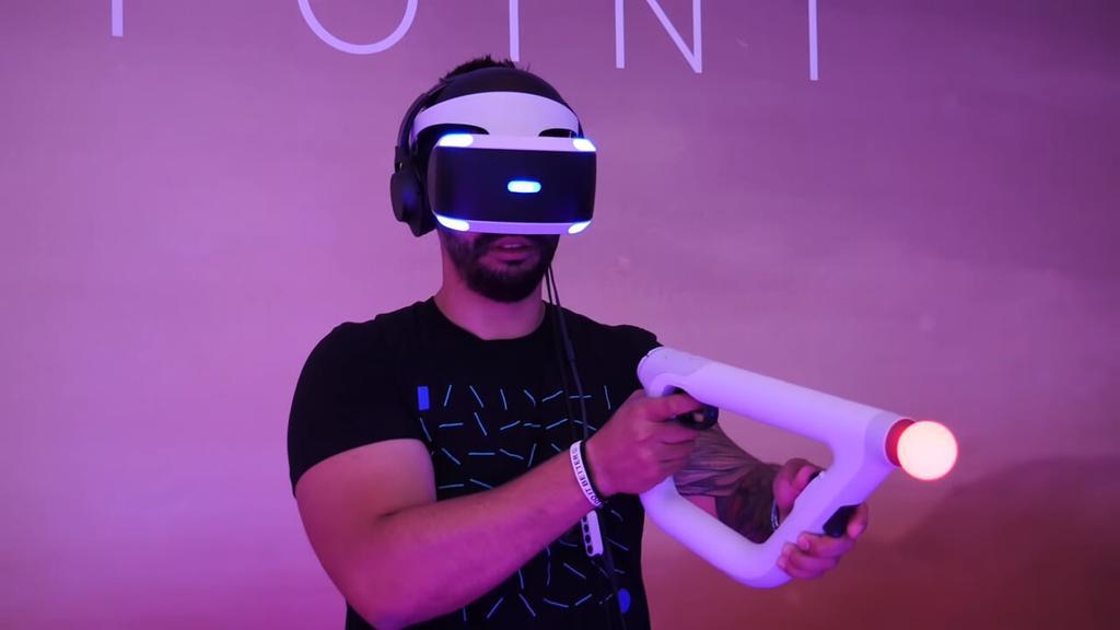 Jugando a Fairpoint con mando PS VR Aim Controller