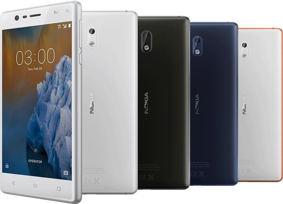 Diseño del nuevo Nokia 3