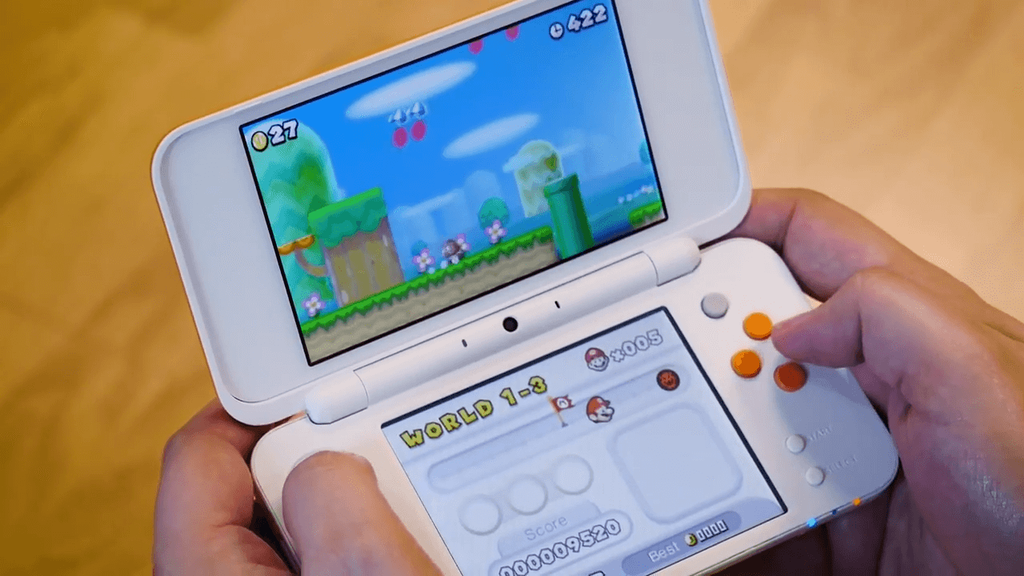 Pantallas integradas en el Nintendo 2DS XL