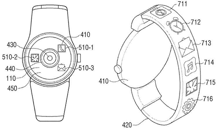 Patente smartwatch de Samsung