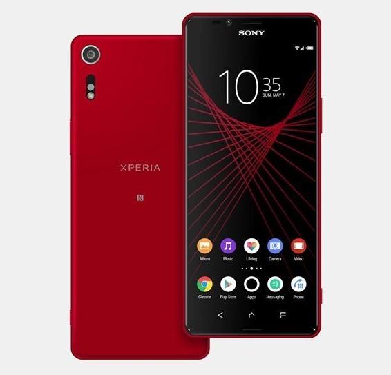 Teléfono Sony Xperia X Ultra de color rojo