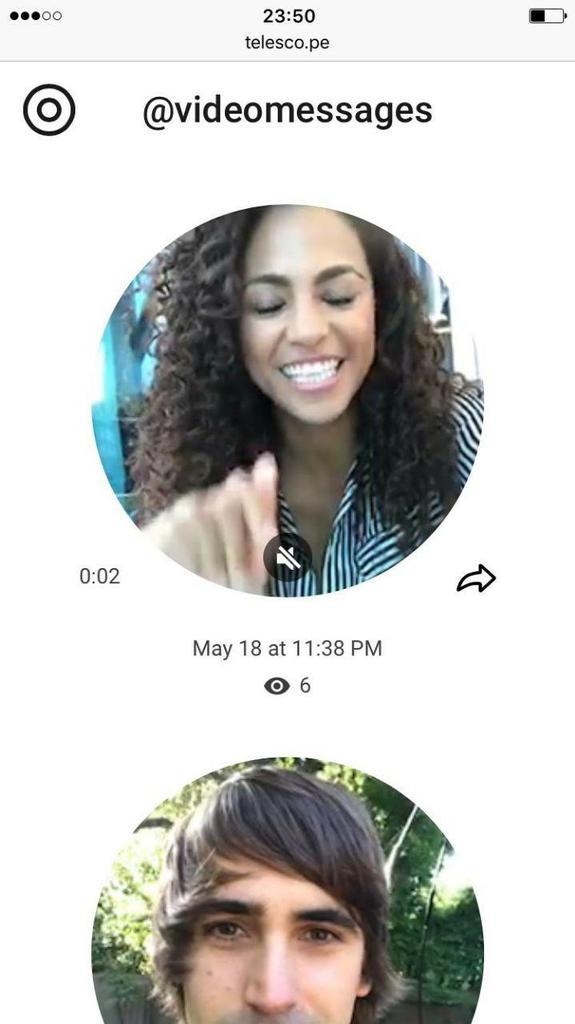 Mensaje de vídeo en Telegram 4.0