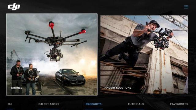 Aplicación Smart TV para los drones de DJI