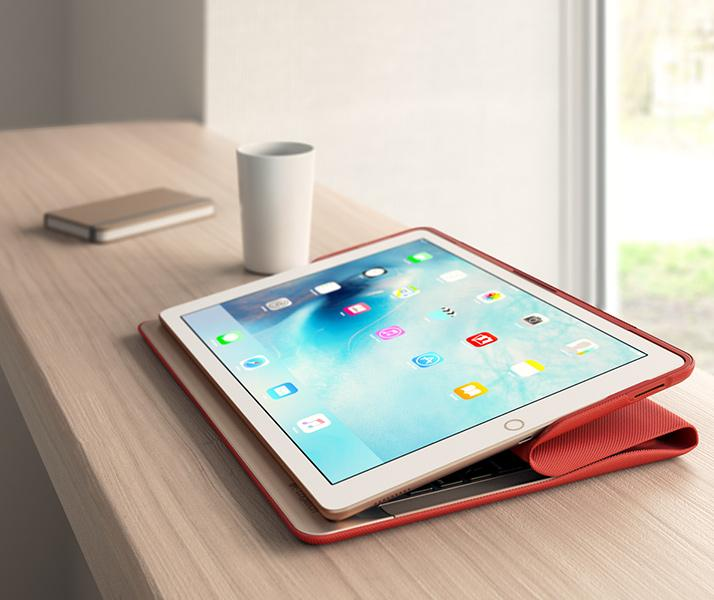 Tablet iPad Pro con funda