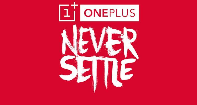 Logotipo de OnePlus con fondo rojo