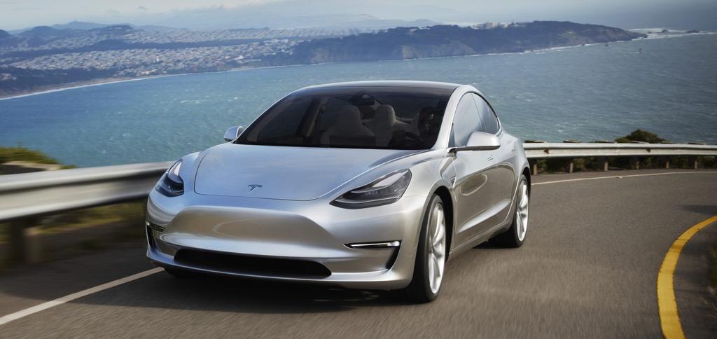 Prototipo del Tesla Model 3