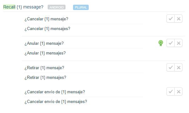 Borrar mensajes enviados en WhatsApp se llamará Anular