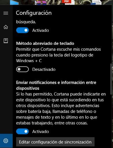 sincronizar las notificaciones en windows 10
