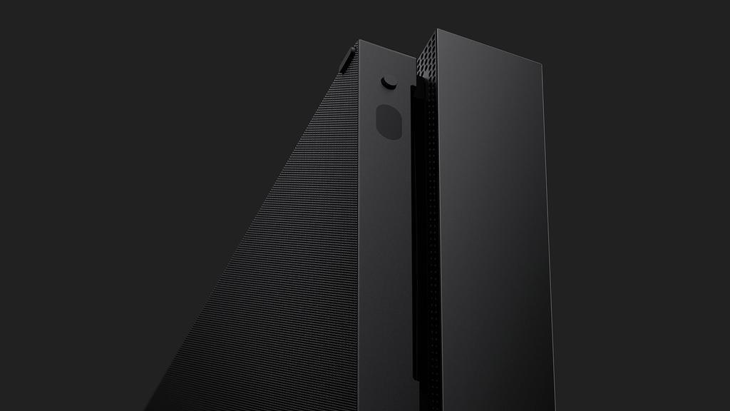 Detalle de al consola Xbox One X