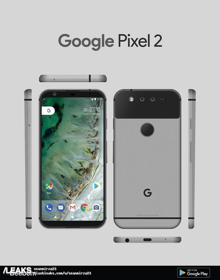 Disñodel Google Pixel 2 de HTC