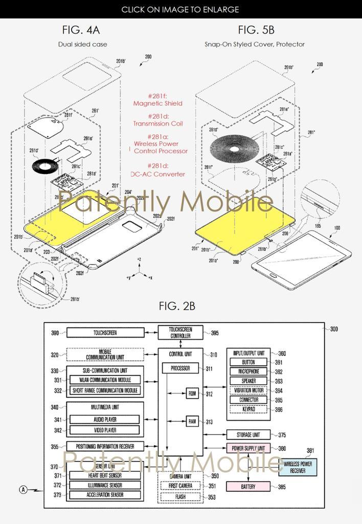Interior de funda para que cargues el smartwatch con el teléfono