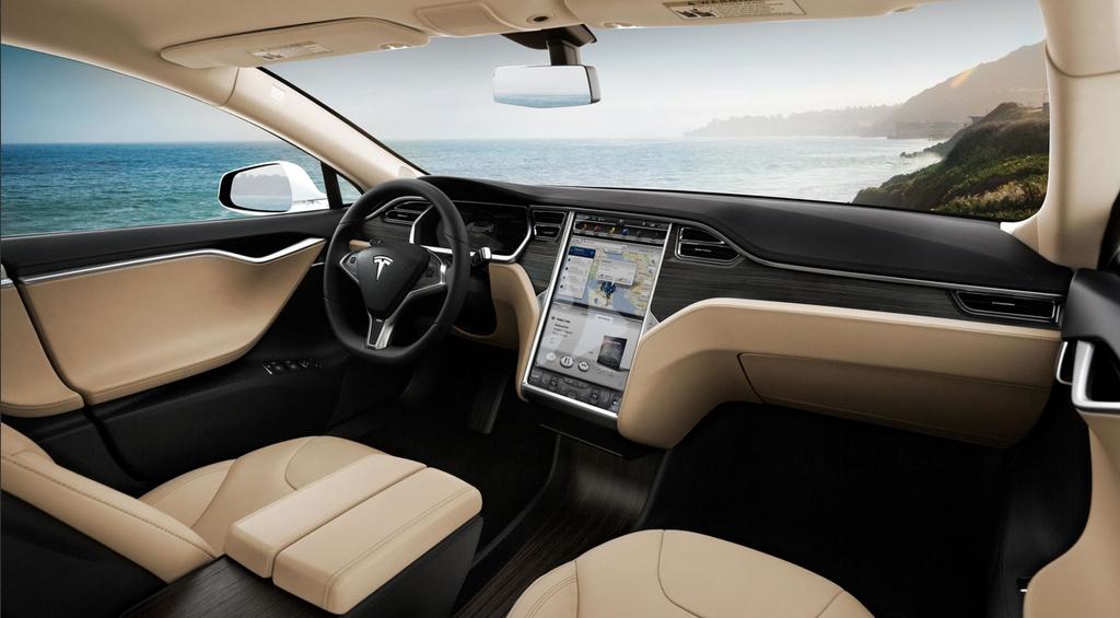 Interior de coche Tesla
