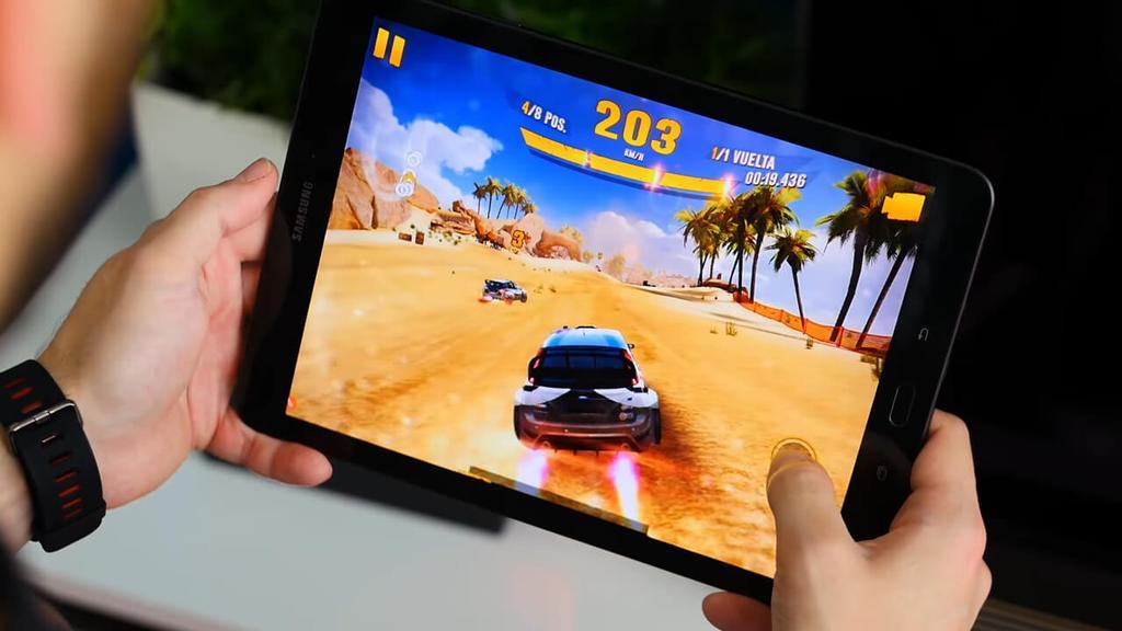 Ejecución de juego en el Samsung Galaxy Tab S3