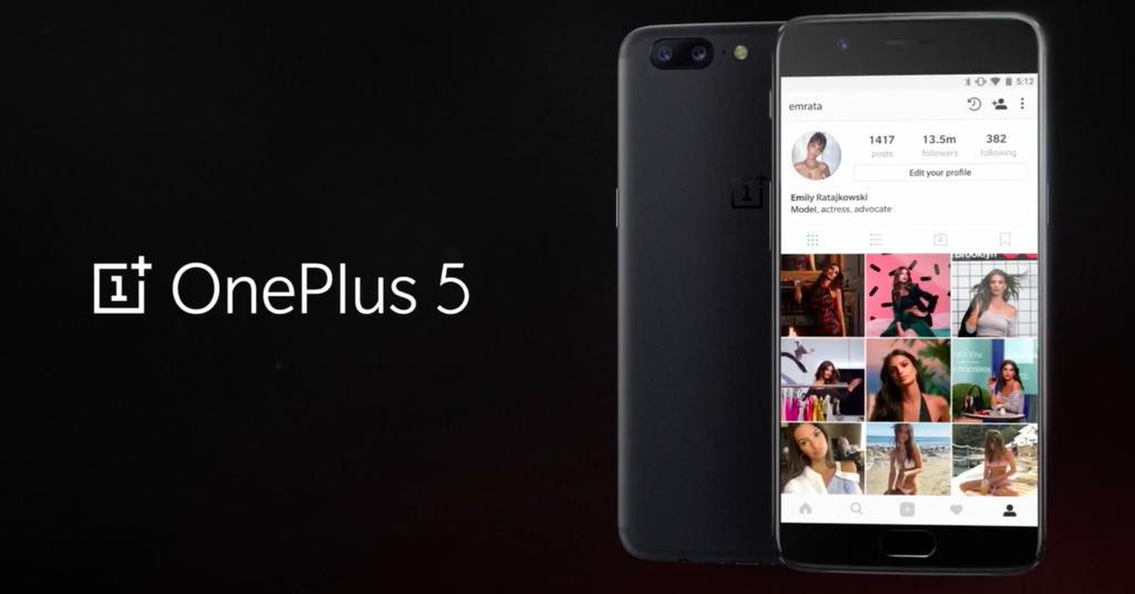 Pantalla integrada en el OnePlus 5