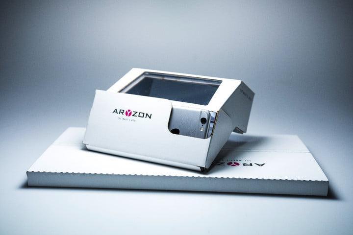 Paquete de envío de las gafas Aryzon