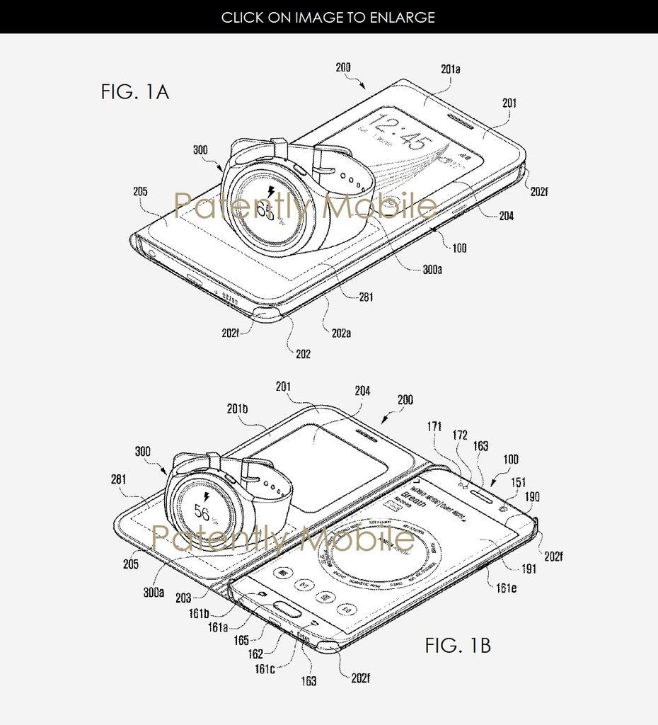Patente funda para que cargues el smartwatch con el teléfono