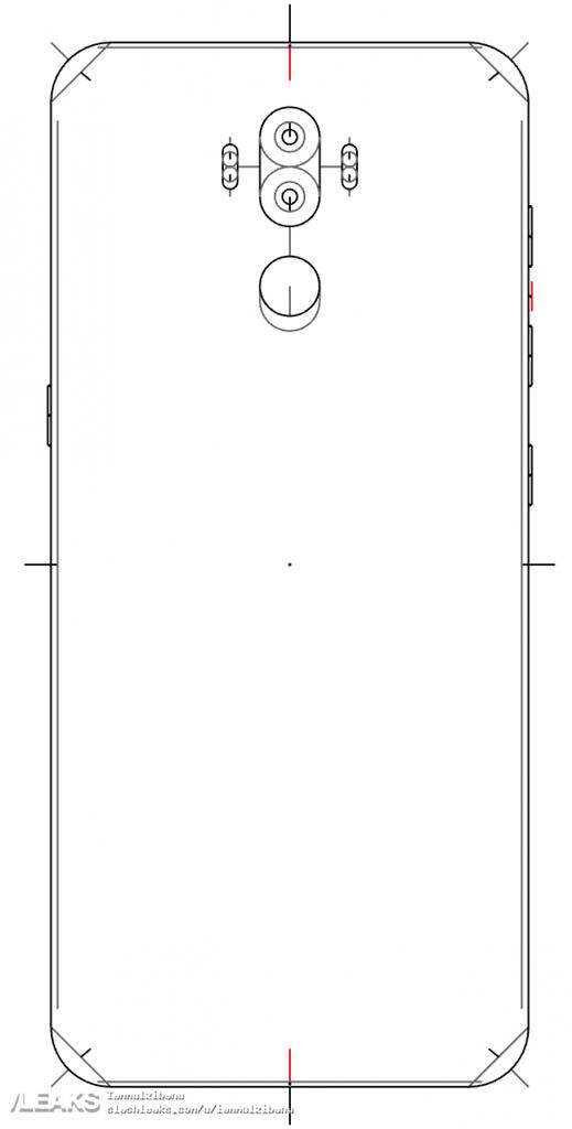 Plano de la parte trasera del Samsung Galaxy Note 8