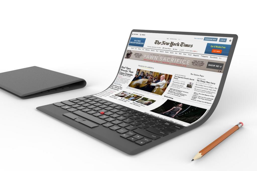Ordeandor portátil flexible de Lenovo