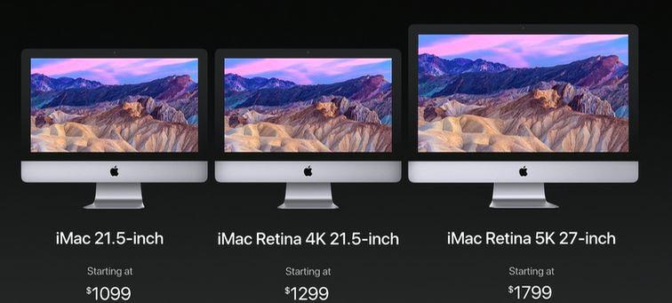 Precios nuevos iMac de Apple en WWDC 2017