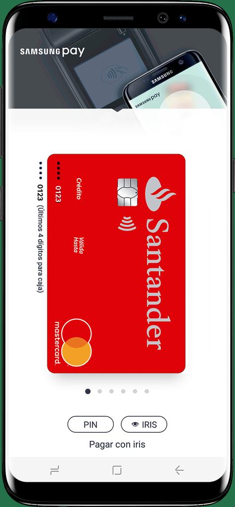 Uso tarjeta Banco Santander en Samsung Pay