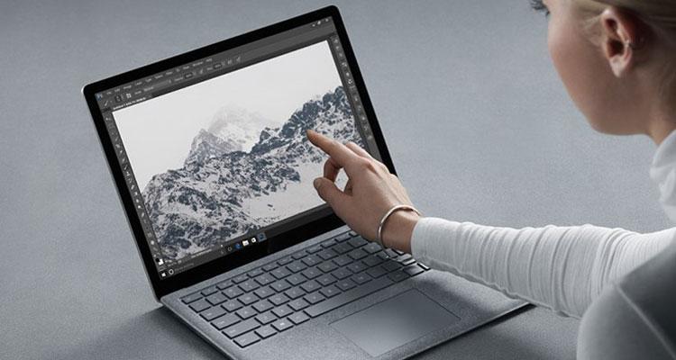 Uso de Surface Laptop