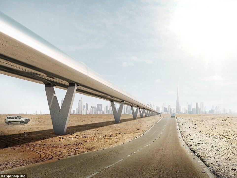 Túnel exterior de Hyperloop One