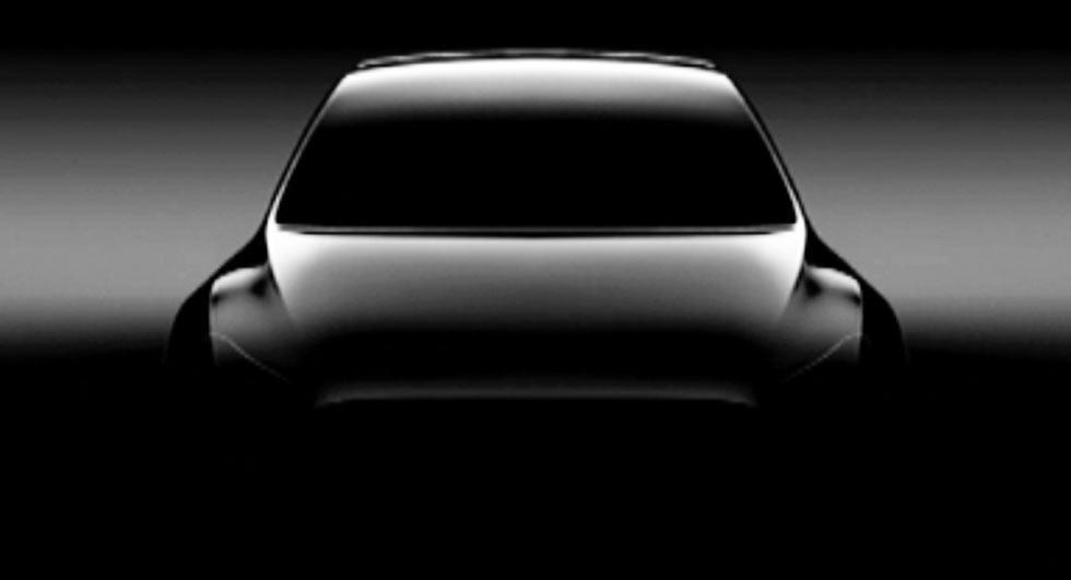 Teaser del Tesla Model Y