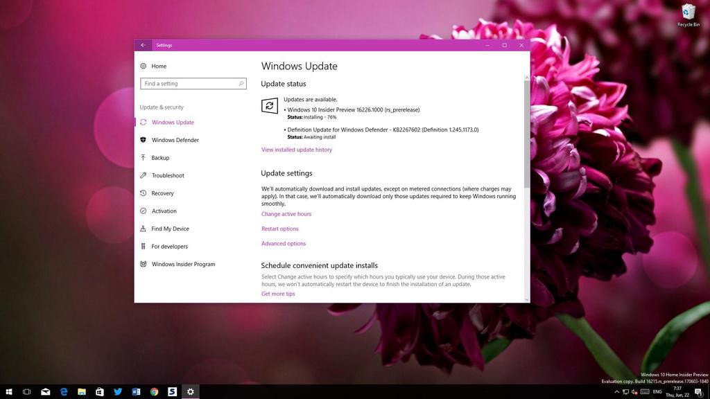 Nueva actualización Windows 10 Redstone 3