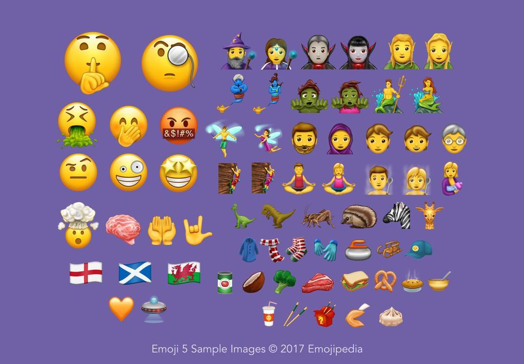 Nuevos emojis anunciado en Unicode 10