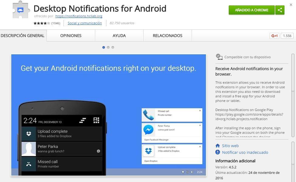 Instalar notificaciones de Android en tu ordenador