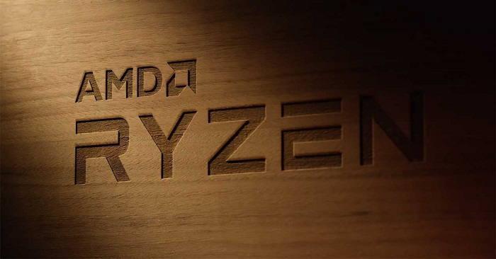 AMD Ryzen 3 litografiado en una pared