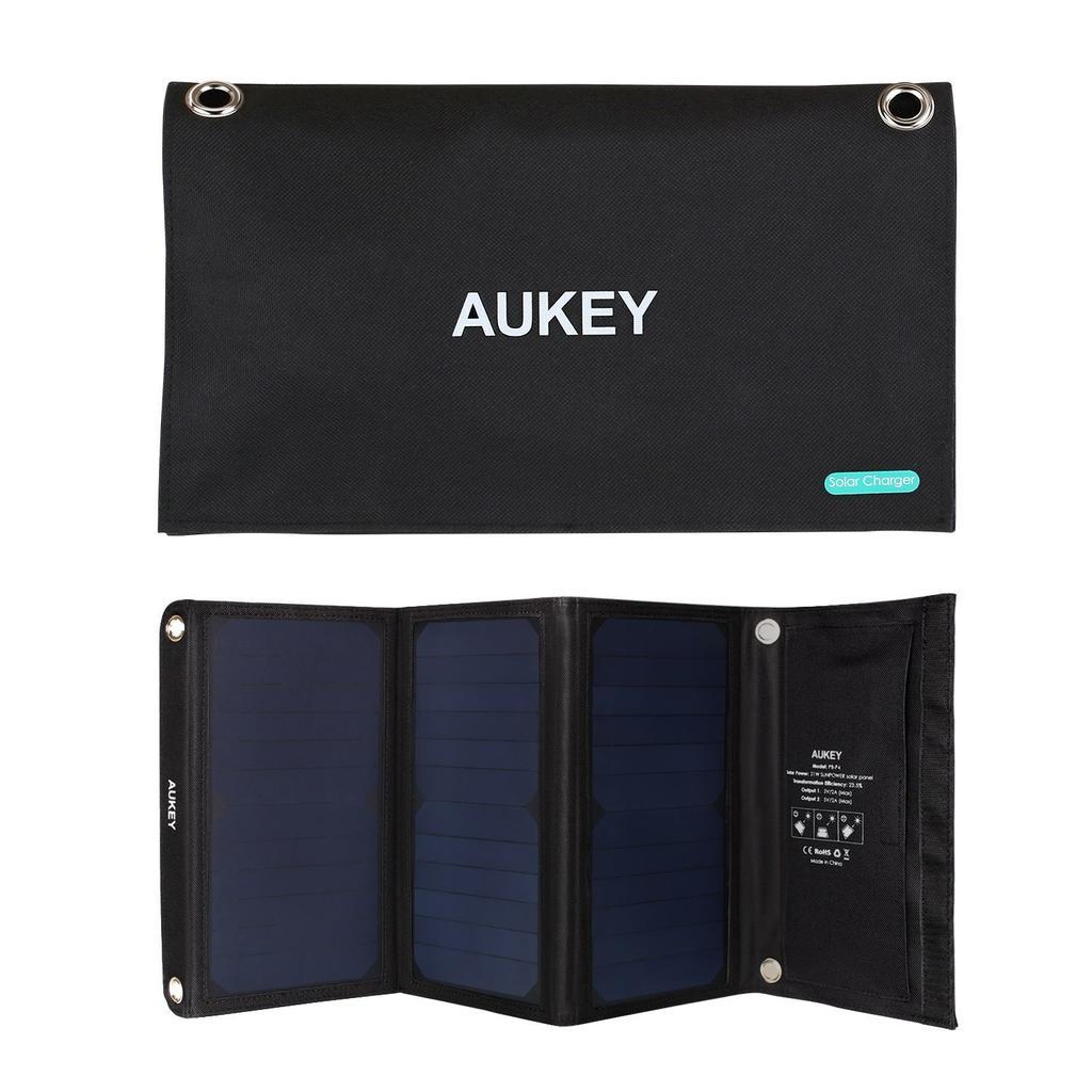 cargador solar Aukey PB-P4