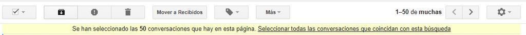 Barra de selección en Gmail