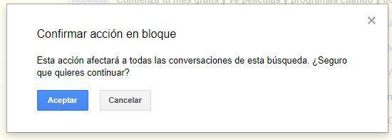 Confirmar borrado en Gmail