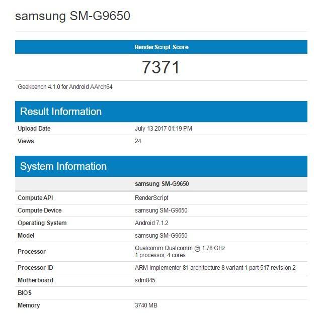 Ficha técnica del Galaxy S9