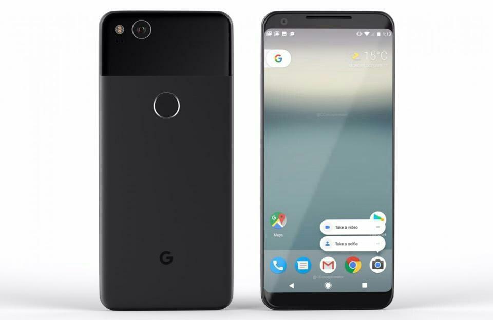 Frontal del Google Pixel 2