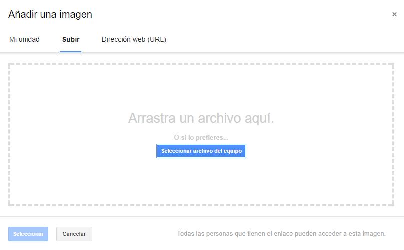 Buscar imagen para añadir imagen en Gmail