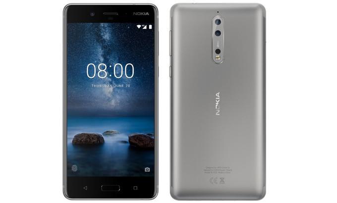 Imagen del teléfono Nokia 8 color plata