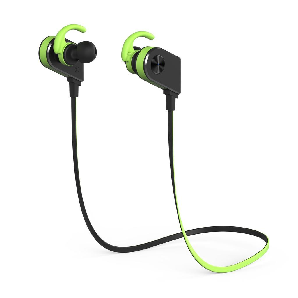 Auricular Bluetooth deportivos de color verde